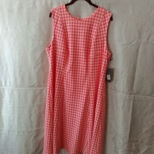 Tommy Hilfiger Coral&White gingham dress size 16